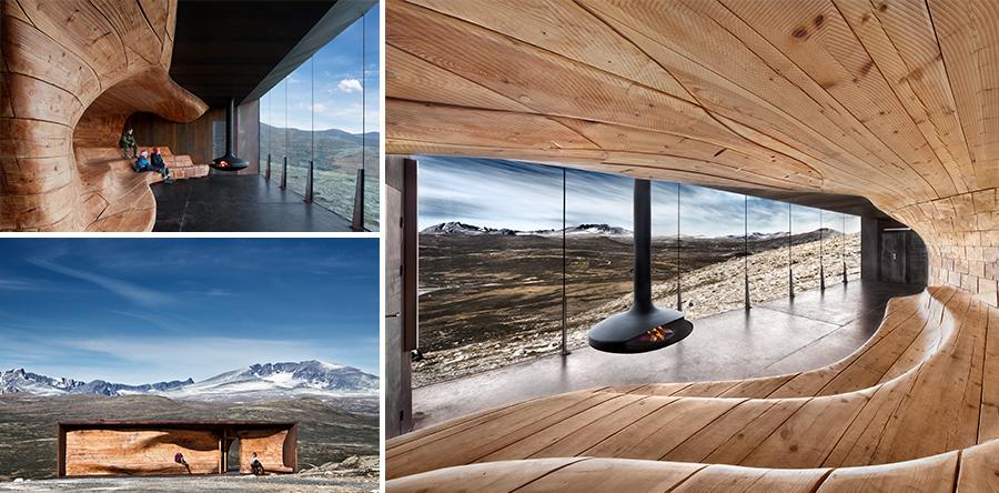 Tverrfjellhytta - Norwegian Wild Reindeer Centre Pavilion, Snøhetta Architekten